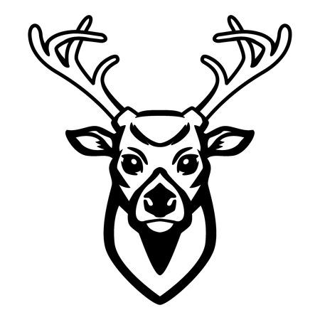 사슴 아이콘 흰색 배경에 고립 된 디자인 요소 레이블, 엠 블 럼, 기호.