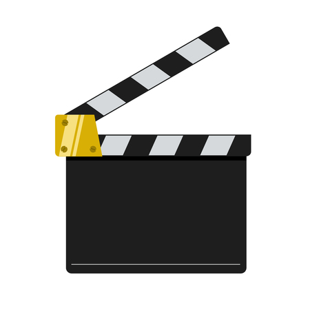Cinema clapper illustration isolated on white background.