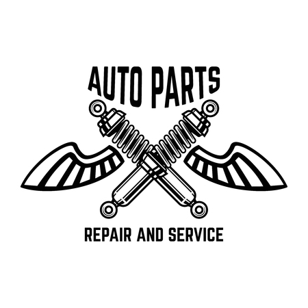 Auto service Service station. Car repair Design element for logo, label, emblem, sign Vector illustration Ilustração