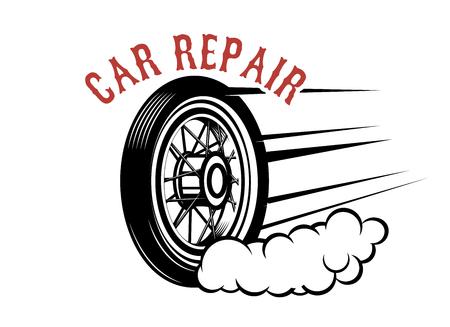 Garage. Service station. Car repair. Design element for logo, label, emblem, sign. Vector illustration Stock fotó - 94316450
