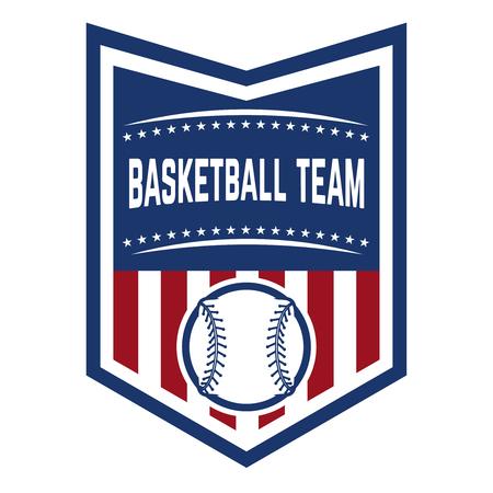 Emblem with baseball ball. Design element for logo, label, emblem, sign, badge. Vector illustration Stock Vector - 95236643