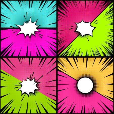 Set of comic style backgrounds. Versus style pop art backgrounds. Design element for poster, banner, flyer. Vector illustration Stock Vector - 95236788