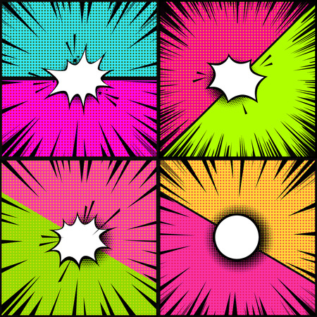 Set of comic style backgrounds. Versus style pop art backgrounds. Design element for poster, banner, flyer. Vector illustration
