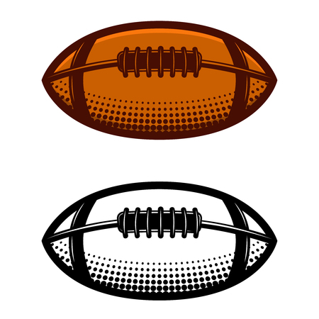 American football ball illustration isolated on white background