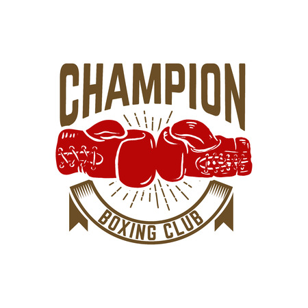 Champion boxing club vector illustration Ilustrace