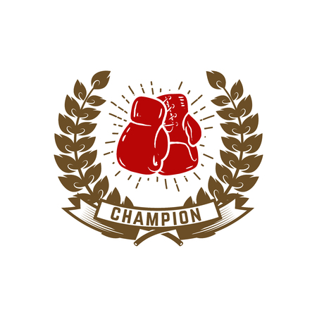 Champion boxing club vector illustration Stok Fotoğraf - 98076512