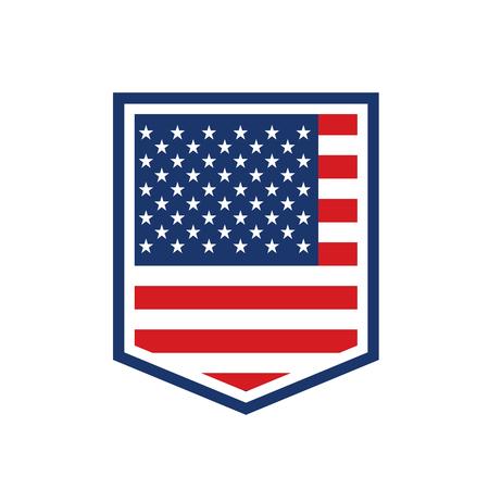 Emblem with USA symbol
