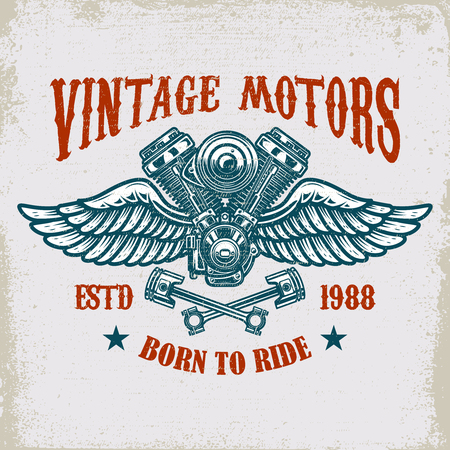 Vintage winged motor template design