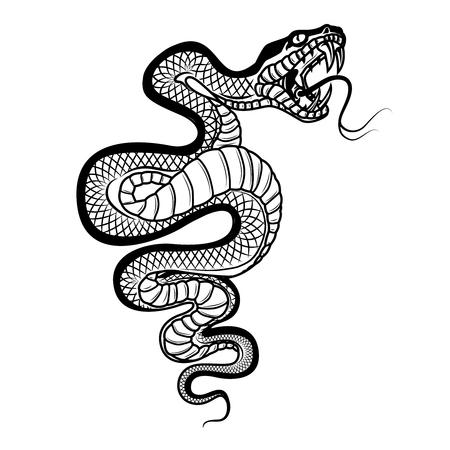 Snake icon design Illustration