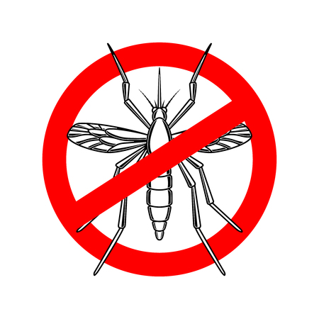 no mosquito signage in red crossed circle