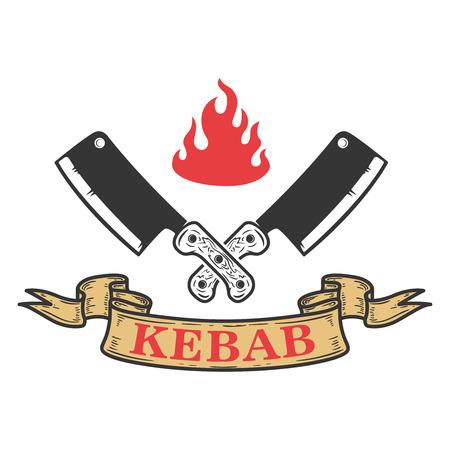 Kebab emblem template for Fast food