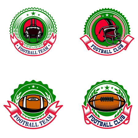 American football emblems. Design element for icon, label, sign. Illustration