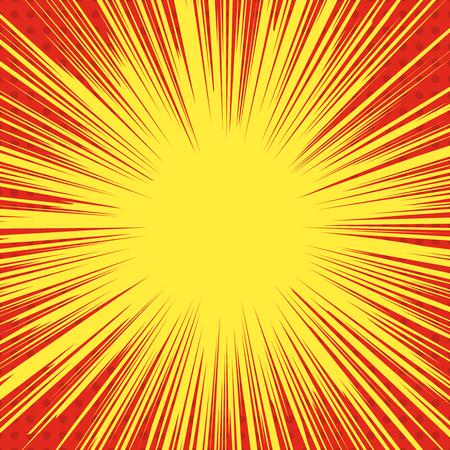 Comic style explosion background. superhero speed lines. Design element for poster, print, card, banner, flyer. Vector image Illustration