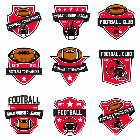 Set of american football emblems