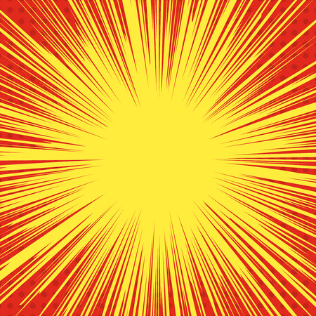 Comic style explosion background. superhero speed lines. Design element for poster, print, card, banner, flyer.