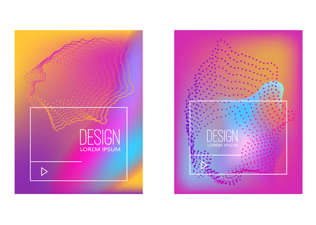Abstract background with gradient waves and dynamic shape composition. Design element for poster, card, flyer,presentation, brochures,cover. Vector illustration.