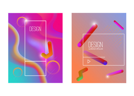 Abstract background with gradient waves and dynamic shape composition. Design element for poster, card, flyer,presentation, brochures,cover. Vector illustration. Stock Vector - 112276490