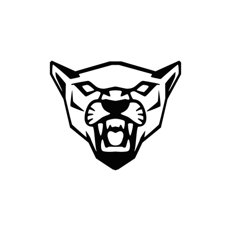 puma head sign. Design element for sport team logo, emblem, badge, mascot. Vector illustration Stock Illustratie
