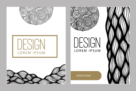 Abstract background with hand drawn design elements. Design element for poster, card, banner.