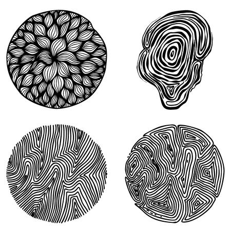 Set of hand drawn curly wavy doodle design elements for poster, banner, flyer, brochure. Vector image
