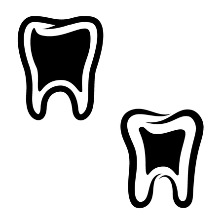 Set of teeth icons isolated on white background. Design element for  label, emblem, sign, badge, poster, t shirt.