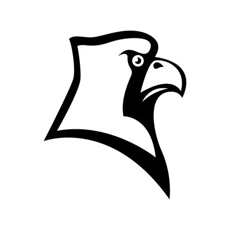 Bird cardinal head sign.Design element for label, emblem, sign, badge, poster, t shirt. Vecteurs
