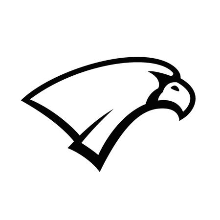 Eagle head sign. Design element for  label, emblem, sign, badge, poster, t shirt. Illustration