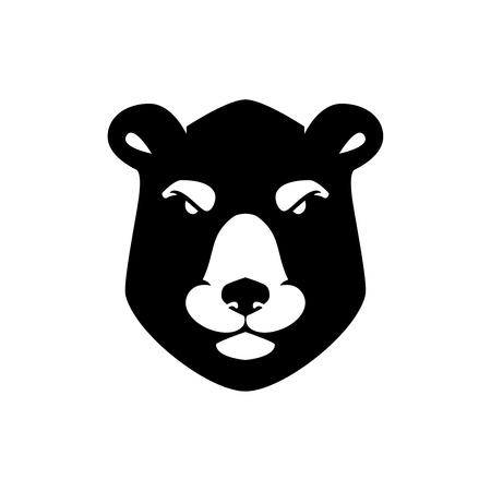 Bear head sign on white background. Design element for logo, label, emblem, poster, t shirt. Vector image