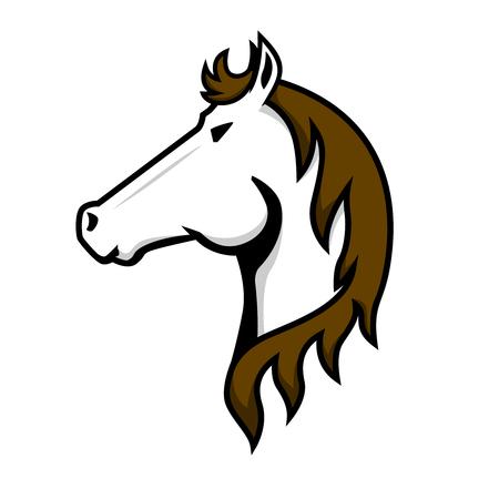 Horse head sign on white background. Design element for logo, label, emblem, poster, t shirt. Vector image Logo