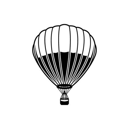 Air balloon illustration on white background. Design element for logo, label, emblem, sign, poster. Vector image