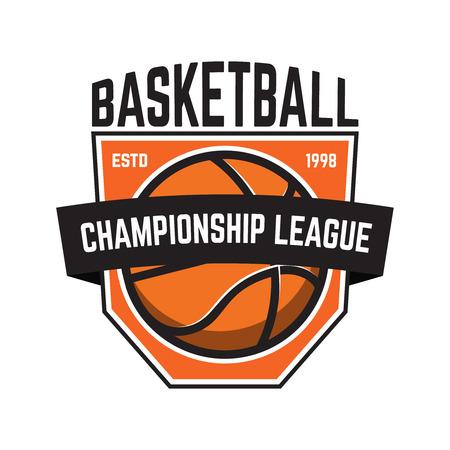 Basketball sport emblems. Design element for poster, logo, label, emblem, sign, t shirt. Vector illustration