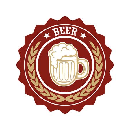 Vintage beer label. Design elements for logo, label, emblem, sign, menu. Vector illustration Illustration