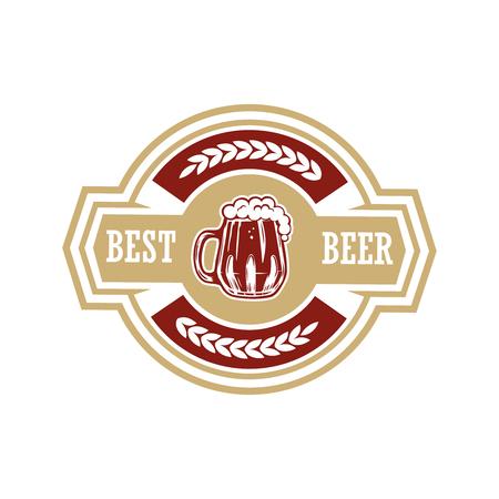Vintage beer label. Design elements for logo, label, emblem, sign, menu. Vector illustration Ilustracja