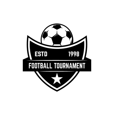 Soccer, football emblems. Design element for logo, label, emblem, sign. Vector illustration