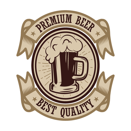 Vintage beer label. Design elements for logo, label, emblem, sign, menu. Vector illustration Фото со стока - 109916115