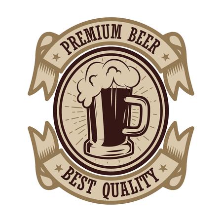 Vintage beer label. Design elements for logo, label, emblem, sign, menu. Vector illustration 일러스트