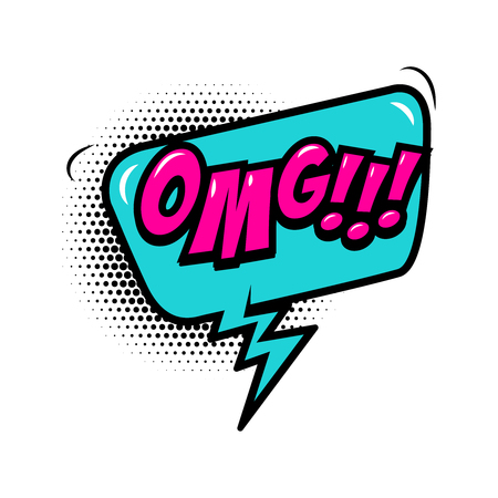 OMG!!! Comic style phrase with speech bubble. Vector illustration