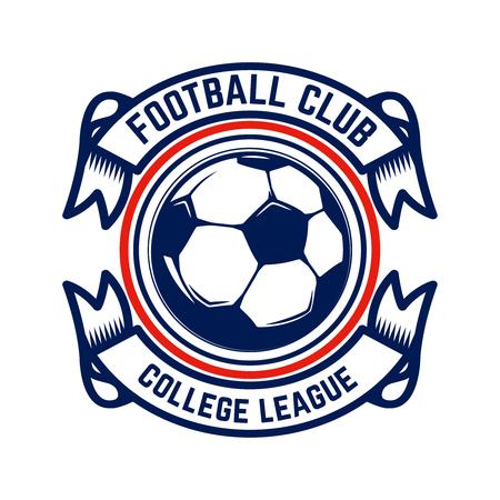 Calcio, emblemi di calcio. Elemento di design per logo, etichetta, emblema, segno. Illustrazione vettoriale Logo