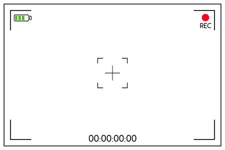 Visor de cámara digital. Elemento de diseño de cartel, diseño de movimiento, banner. Ilustración vectorial