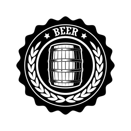 Vintage beer label. Design elements for logo, label, emblem, sign, menu. Vector illustration Çizim