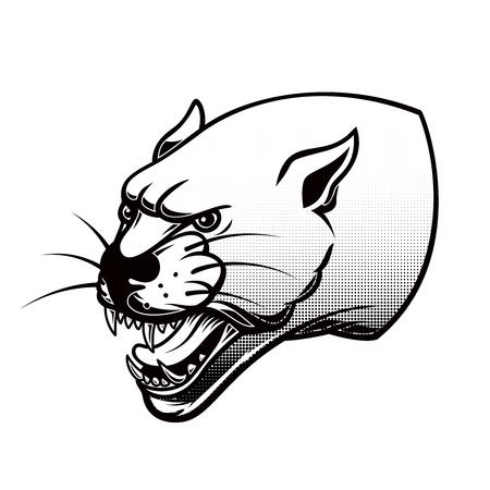 Illustration of pantera head. Design element for poster, card, banner, t shirt sign, emblem. Stok Fotoğraf - 114135720