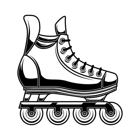 Illustration of roller skates. Design element for logo, label, emblem, sign, poster. Vector illustration Stock Vector - 126947326