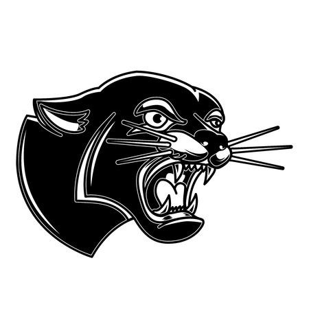 Illustration im Tattoo-Stil. Gestaltungselement für Logo, Label, Emblem, Schild, Poster, T-Shirt. Vektor-Illustration