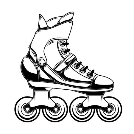 Illustration of roller skates. Design element for logo, label, emblem, sign, poster. Vector illustration