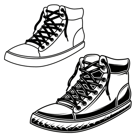 8192 Shoe Print Stock Vector Illustration And Royalty Free Shoe