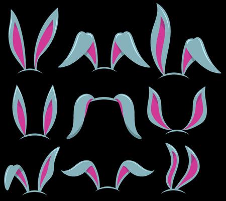 Easter bunny ears. Design element for poster, card, banner, flyer. Vector illustration