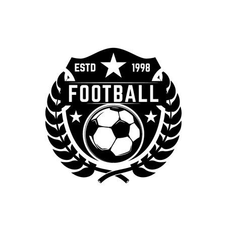 Soccer club emblem. Design element for logo, label, sign, poster. Vector illustration Ilustração