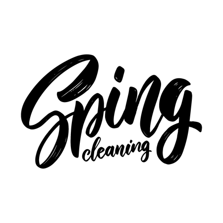 Spring cleaning. lettering phrase for invitation, banner, postcard, web, poster template. Vector illustration Stock Vector - 122636357