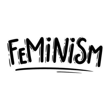 Feminism. Lettering phrase for postcard, banner, flyer.Vector illustration