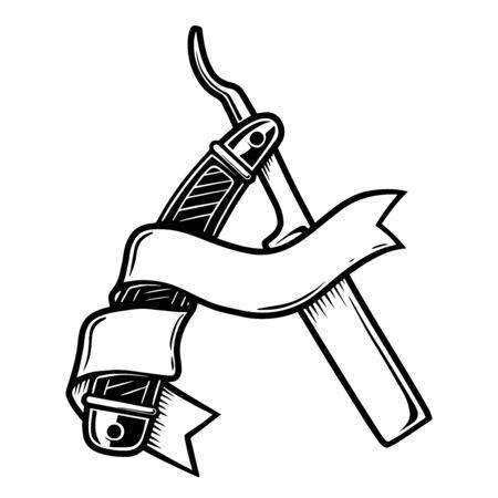 Illustration des Friseurrasierers lokalisiert auf weißem Hintergrund. Vektorgrafik